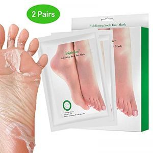 2 Pairs Exfoliating Foot Peel Mask for Soft Feet in 7 Days, Exfoliating Booties for Peeling Off Calluses & Dead Skin, Baby Your feet, for Men & Women (Olive)