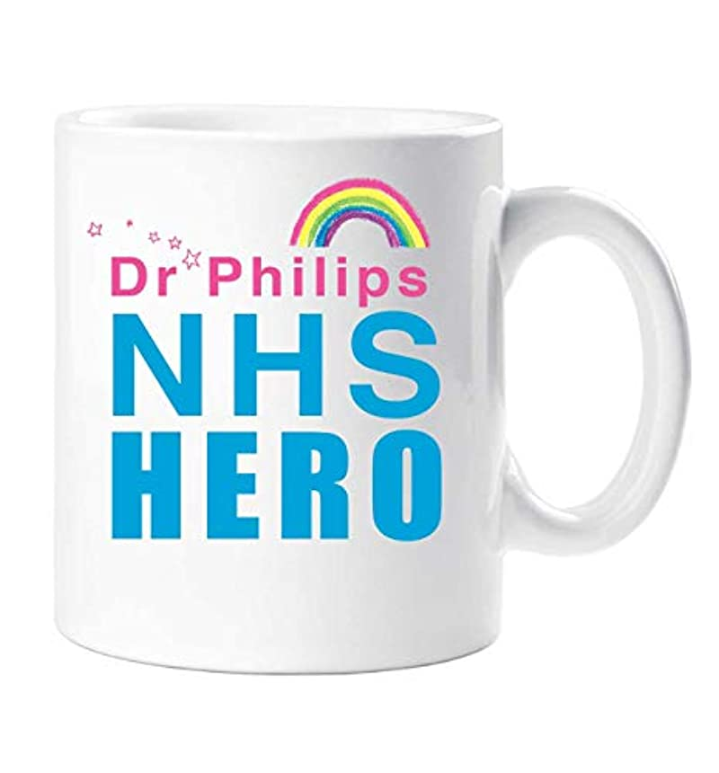 60 Second Makeover® Personalised NHS Hero Mug Rainbow Inspirational Self Isolation Gift Cup Ceramic Present