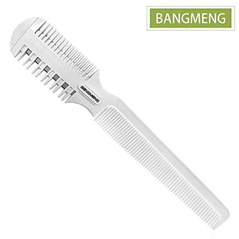 BANGMENG Hair Cutter Comb,Shaper Hair Razor with Comb,Split Ends Hair Trimmer Styler,Double Sided Hair Razor for Thin & Thick Hair Cutting and Styling.