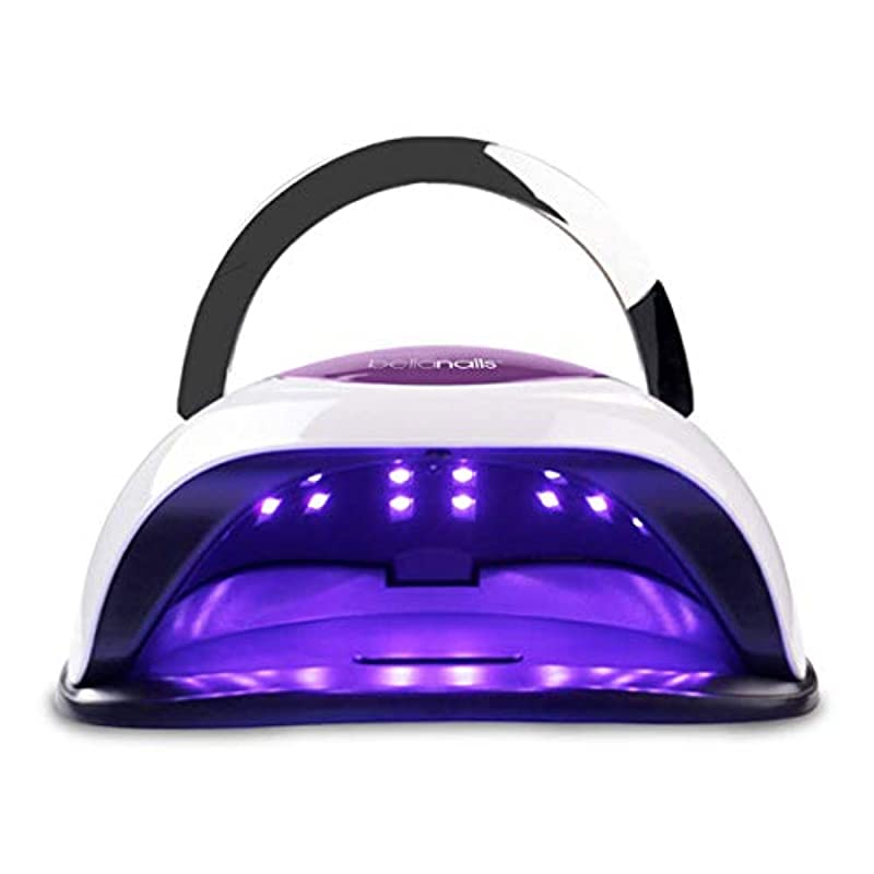 BELLANAILS Professional LED Nail Lamp For Home or Salon Use, 3x Faster Than Traditional UV Nail Dryers - Works With CND Shellac & Other Leading Brand Polishes, 4 Time Presets, 120 W