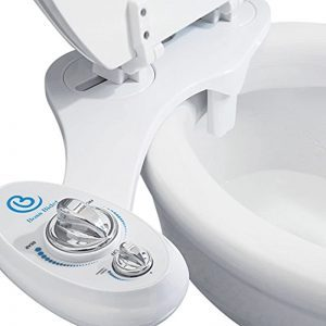 BOSS BIDET Toilet Seat Attachment | Fresh Water Sprayer | Cleans Your Rear Better Than You Can | Dual Nozzle | Self Cleaning | Manual | Non Electric | Luxury White & Black | 1 Year Warranty