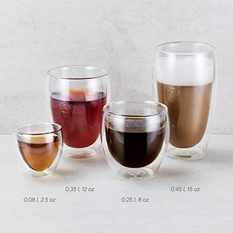 Bodum PAVINA Double Walled Thermo Glasses, 0.35 L, 12 oz, Pack of 6