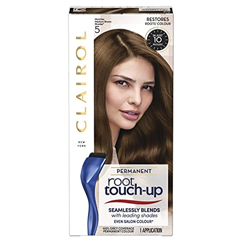 Clairol Root Touch-Up Permanent Hair Dye, 5 Medium Brown, Long-lasting Intensifying Colour with Full Coverage and Easy Application, 30 ml