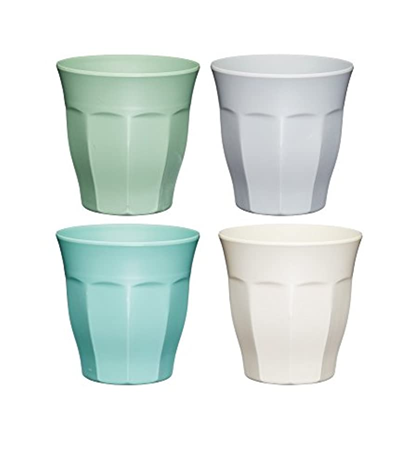 Colourworks Melamine Plastic Cups, Melamine, Classic Colour, Set of 4
