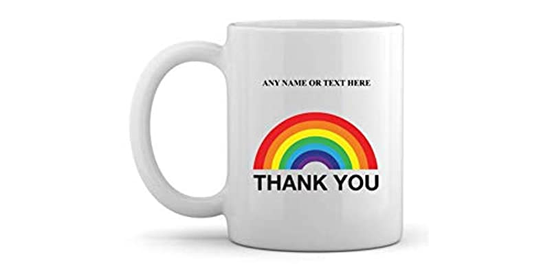 Covid19 Personalised Ceramic Mug Thank You NHS Thank You Key Worker Thank You Mug Coffee Cup Tea Cup with Any Text