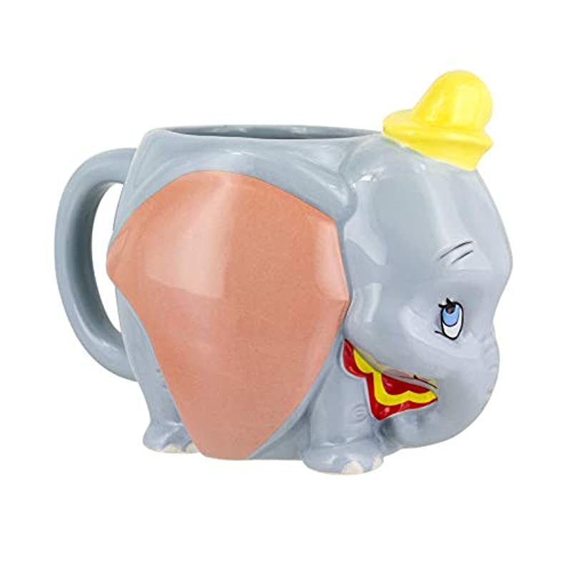 Disney Dumbo 2019 Shaped Mug | Novelty Oversized Coffee Tea Ceramic Cup | Unique & Super Fun Way of Drinking Your Favourite Beverage