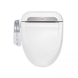 FLORY EU Bidet Electric Digital Intelligent Toilet Seat UK-STANDARD FDB600 Energy-Saving Technology,Eco-Friendly,Water & Seat Heater,Warm Air Dry-Elongated