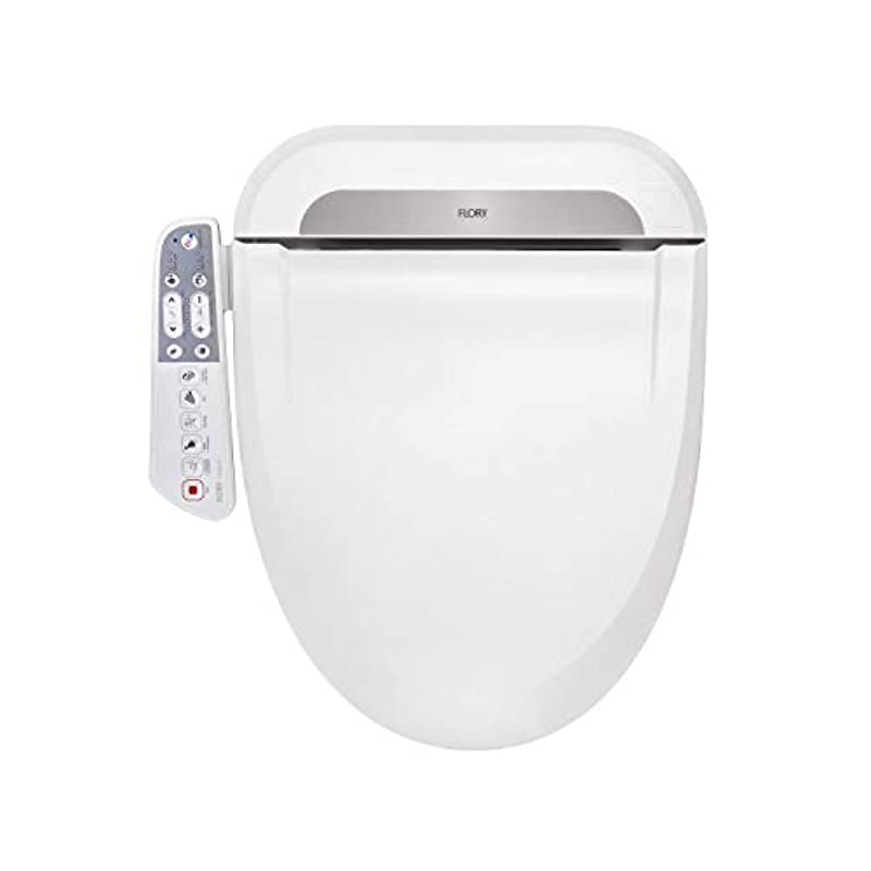 FLORYEU Bidet Electric Digital Intelligent Toilet Seat UK-STANDARD FDB600 Energy-Saving Technology,Eco-Friendly,Water & Seat Heater,Warm Air Dry-Normal,Only for United Kingdom