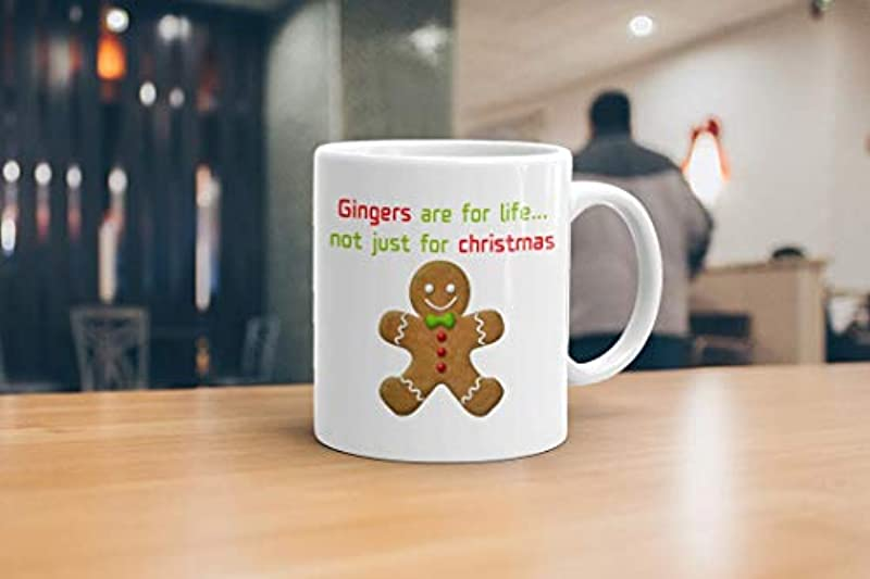 GrassVillage Gingers are for Life Not Just for Christmas Ceramic Mug, Cup, White, Funny, Sarcasm Mug 11oz