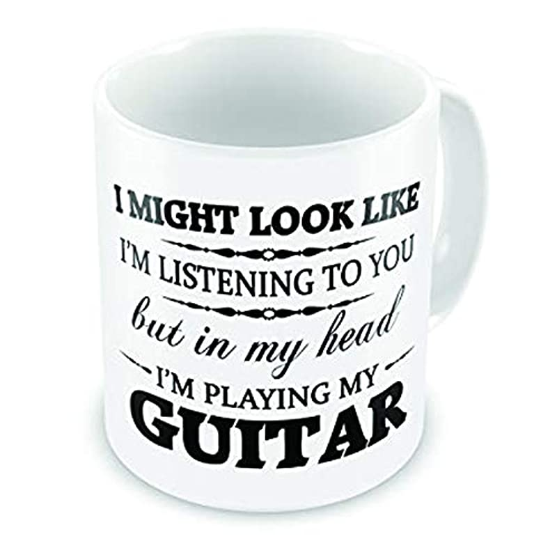 In My Head I'm Playing My (Guitar) Funny Novelty Gift Mug