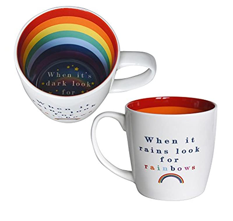 Inside Out Rainbows Mug - Pattern Inside and Out