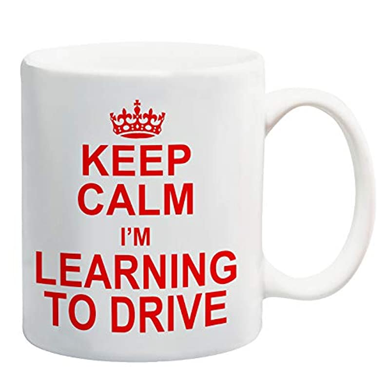 Keep Calm I'm Learning to Drive Mug Gift Present Learner Driving Lessons