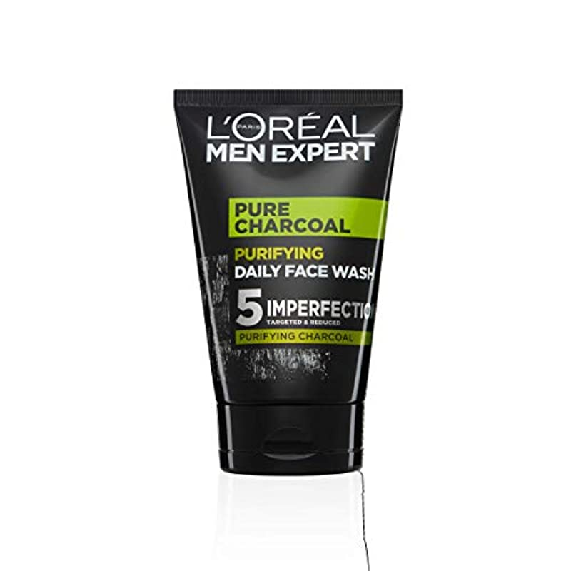 L'Oreal Paris Men Expert, Face Wash, Pure Charcoal Purifying Blackhead Targeting Daily Cleanser for Men