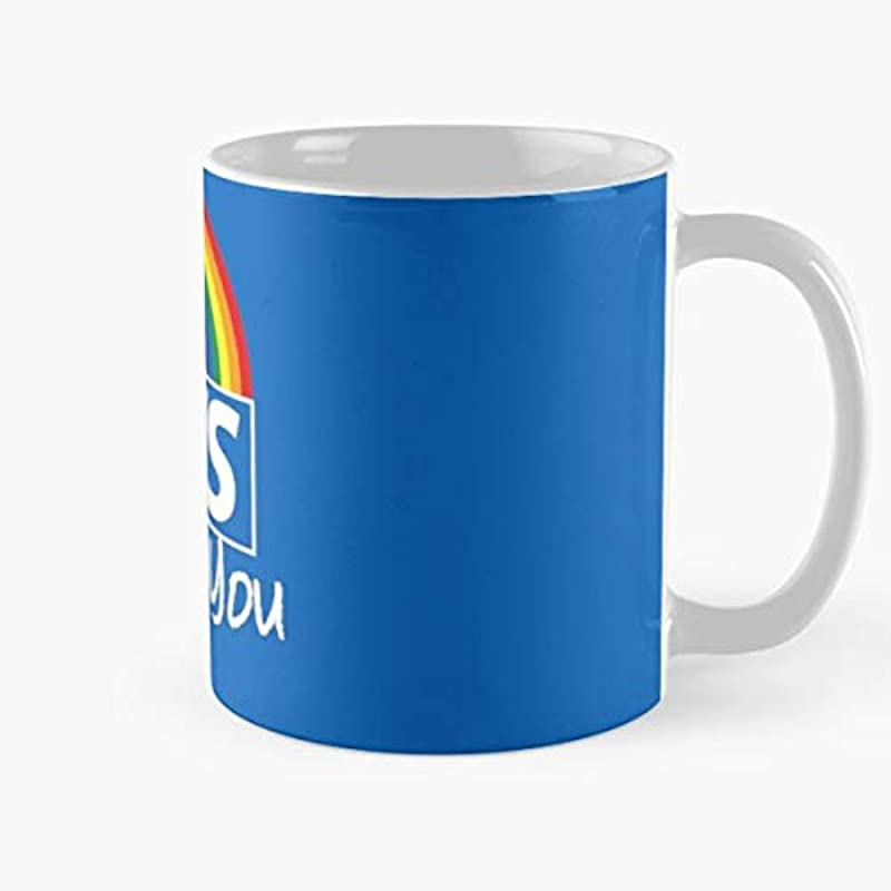 NHS Thank You Rainbow Classic Mug - Ceramic Coffee White (11 Ounce) Tea Cup Nursing Appreciation Gifts for Nurse Practitioner.