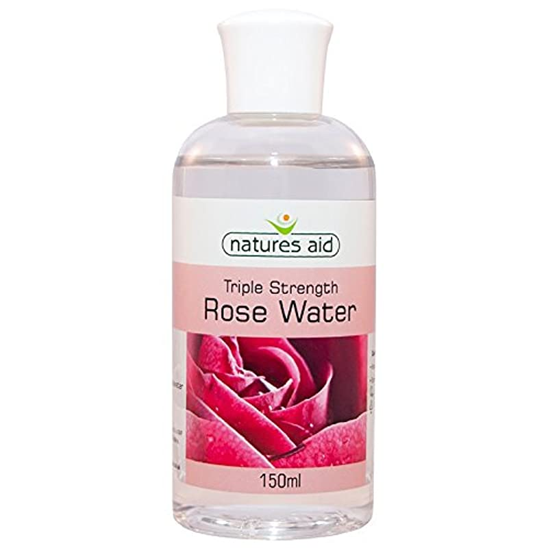 Natures Aid Triple Strength Rose Water, 150 ml (Award-Winning, No Added Ingredients, Sweet Fragranced, Vegan Society Approved, Made in UK) [Packaging May Vary]
