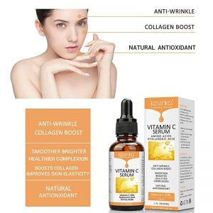 PREMIUM VITAMIN C SERUM For Face With Infused Aloe Vera, Hyaluronic Acid, Retinol, Amino Acids -Natural Anti Ageing, Anti-Wrinkle Facial Serum, Boosts Collagen Helps Erase Fine Lines, Brighten Hydrate