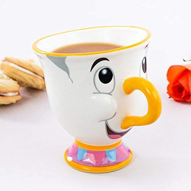 Paladone Abysse Disney The Beauty and The Beast Chip Mug, Porcelain, Multi-Colour, 1 Pack