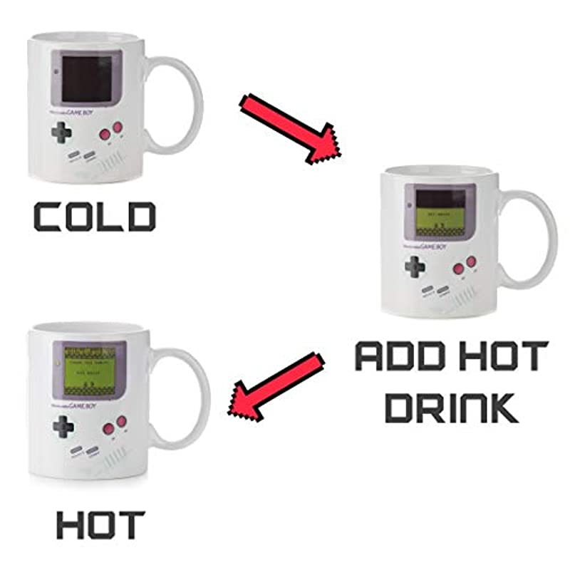 Paladone Game Boy Heat Changing Coffee Mug - For Gamers and Coffee Enthusiasts