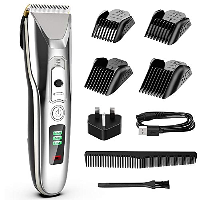 Paubea Cordless Hair Clippers for Men - Ceramic Blade Mens Hair Trimmer Beard Trimmer Hair Cutting & Grooming Kit Rechargeable