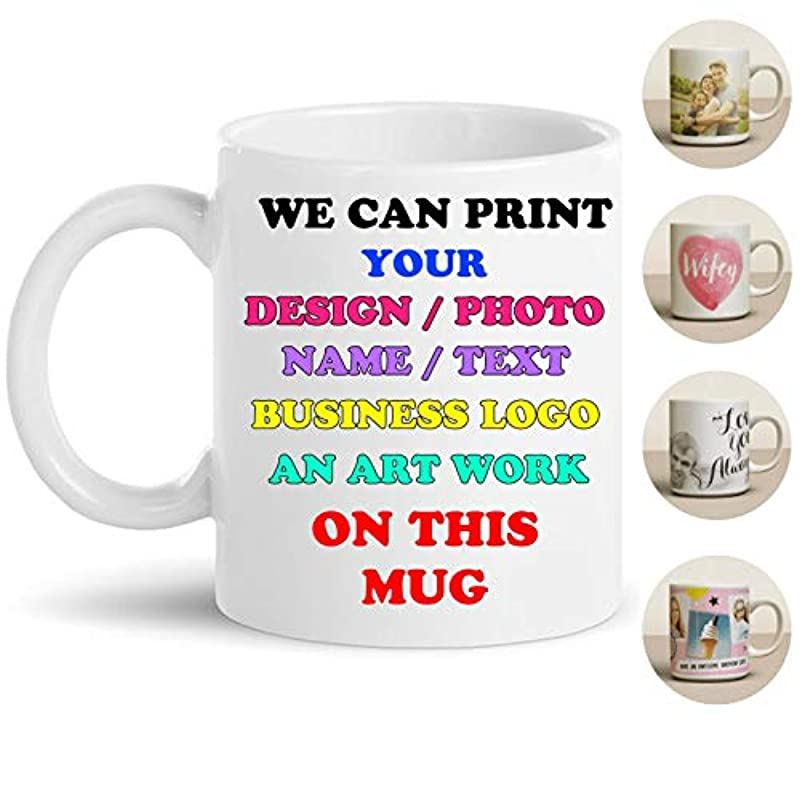 Personalised Mug - Your Name - Your Image - Business Logo - Family Picture Design - Tea Coffee Mug - Personalised Gifts - Leaving Gifts for Colleagues - Christmas Day - Secret Santa - New Year Mugs