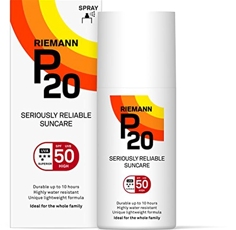Riemann P20 Sunscreen SPF50 Spray 200ml | Long Lasting UVA & UVB Protection for up to 10 hours | Highly Water Resistant