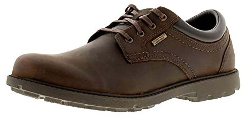 Rockport Storm Surge Oxford Mens Leather Material Casual Shoes Tan
