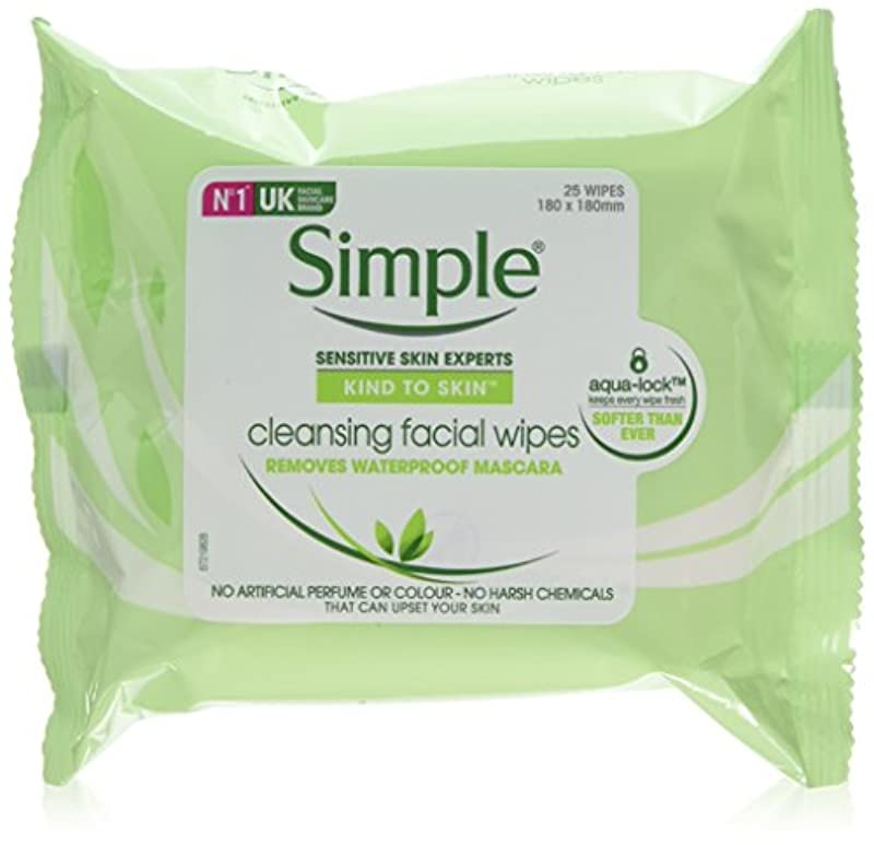 Simple Kind to Skin Cleansing Facial Wipes to Lift Impurities and Make-up Out, 25 Face Wipes, (Pack of 6 x 25)