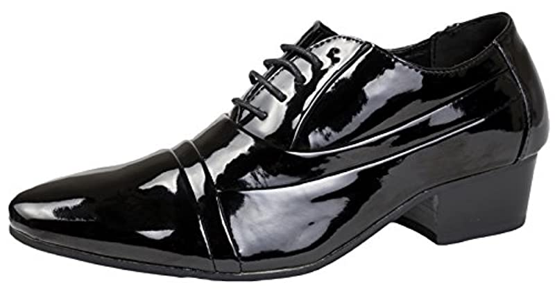 Strong Souls Mens Patent Lace Up Loafers Smart Formal Wedding Dress Shoes