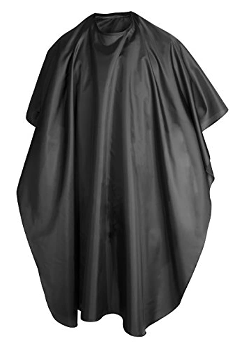 TRIXES Hairdressing Gown Barbers Cape - Black Full Length Cape Waterproof Unisex Professional Barbers/Hairdressers Gown for Hair Styling, Cuts and Colours