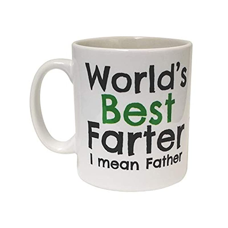 Worlds Best Farter I Mean Father Funny Silly Joke Mug Christmas Birthday Gift