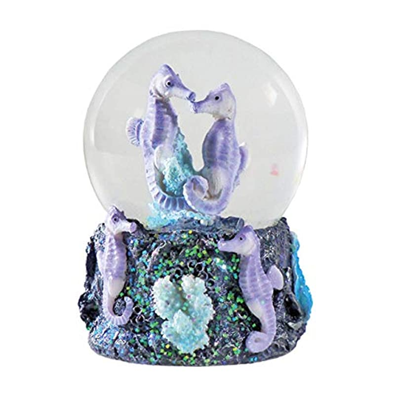 Seahorses Snow Globe from Deluxebase, with resin figurine and moulded base (randomly selected from two colours).