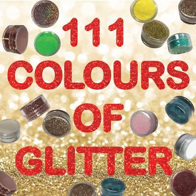 111 Colours of Fine Glitter Dust for Nails Art Face Body Eye Shadow Craft Paint