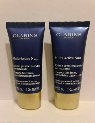 2 x Clarins Multi-Active Nuit 30ml for normal to combination skin - 60ml total