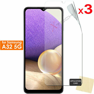 3 Pack of Samsung Galaxy A32 5G CLEAR Screen Protector Cover Guards