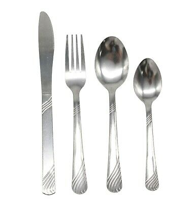 Cutlery Sets Stainless Steel 4 24 32 48 72 piece Set Wholesale Dishwasher Safe