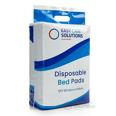 Disposable Incontinence Bed Pads - 60 x 90 cm- Protection Sheets - Pack of 20