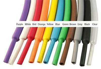HEAT SHRINK TUBING 2:1 ELECTRICAL SLEEVING CABLE WIRE HEATSHRINK TUBE ALL COLOUR