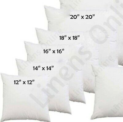 """Hollowfibre Cushion Pads Inserts Inners Fillers 14"""" 16"""" 18"""" 20"""" All Sizes"""