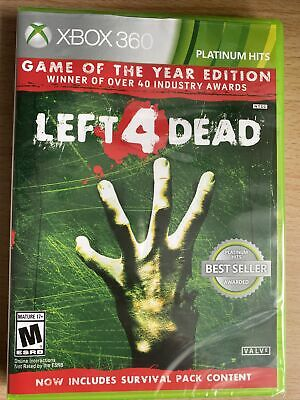 Left 4 Dead -- Game of the Year Edition (Microsoft Xbox 360, 2009) Brand New