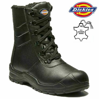 MENS DICKIES SAFETY BOOTS LEATHER STEEL TOE CAP MILITARY COMBAT HIKER WORK SIZE