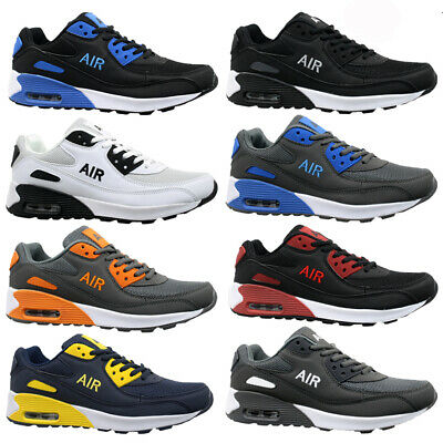 MENS SHOCK ABSORBING RUNNING TRAINERS CASUAL LACE GYM WALKING SPORTS SHOES SIZE