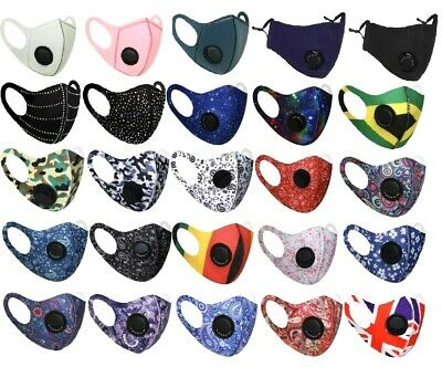 New Adults Air Purify Ventilator Mouth Face Mask Washable Breathable Reusable