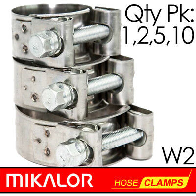 Pack of 1,2,5,10   MIKALOR W2   Stainless Steel   T Bolt Supra Hose Clip   Clamp