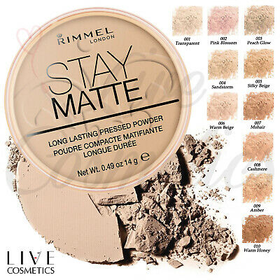 RIMMEL STAY MATTE LONG LASTING PRESSED POWDER **CHOOSE YOUR SHADE**