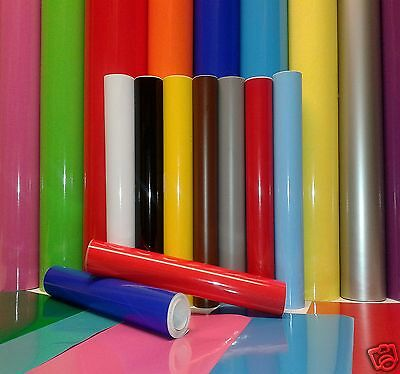 Self Adhesive Sign Decal GLOSS Vinyl BUY 2 GET 1 FREE Sticky Back Plastic