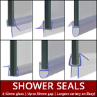 Shower Screen Seal Strip   For 4-12mm Glass   Up to 50mm Gap   Bath Door 800mm