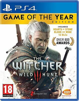The Witcher 3: Wild Hunt Game of the Year Edition (PS4) Brand New & Sealed