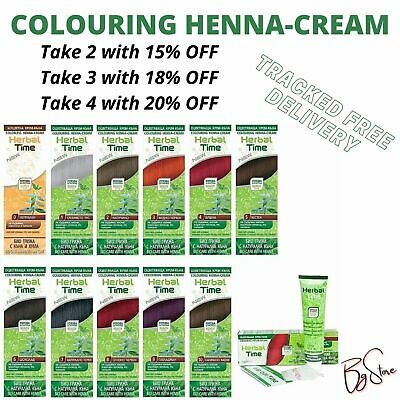 UK Stock 100% Natural Henna Coloring Cream Herbal Time Bio Care With Henna 75ml